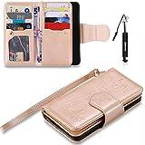 Galaxy A3 2016 Hülle, Galaxy A3 2016 Tasche Leder, Huphant Flip Case Leder [9 Credit Cards Leather Case Wallet Case Magnet Case Schutzhülle Klappbar für Samsung Galaxy A3 2016(4.7