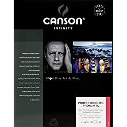 Canson infinity - HighGloss Premium RC - 200002284 - Papier Photo - Format A2 - 25 feuilles - Blanc