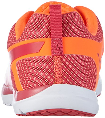Puma Women s Pulse Flex XT Core WNS Indoor Court Shoes Orange Orange  Fluo Peach-Rose red-White 01  6 5 UK