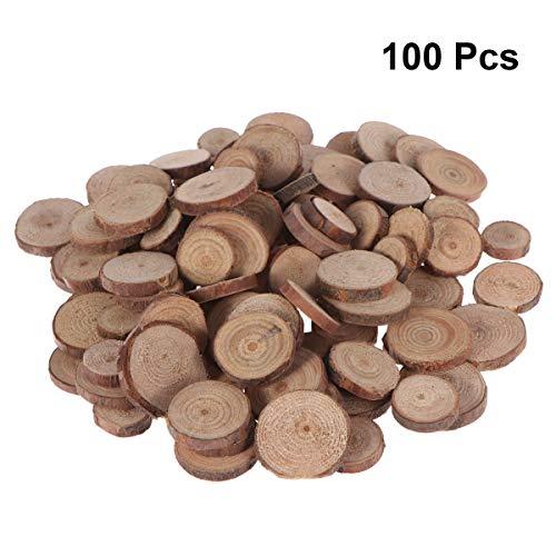 1.5 Rodajas troncos madera Natural de-3CM discos boda