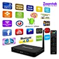 Android Tv Box Tplus Amlogic S812 Quad Core 2G/16GB Kodi 16.1 Streaming Media Player with Android 5.1 Lollipop Support 4K,3D,H.265,BT 4.0 by Zoomtak