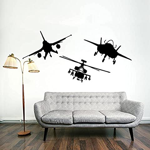 Wall Decals Military Aircrafts Plane Airplane Fighter Jet Copter Helicopter Aviation Gift Kids Children Dorm Vinyl Sticker Wall Decor Murals Decal