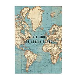 Sass & Belle – Libreta vintage mapamundi (CR145)