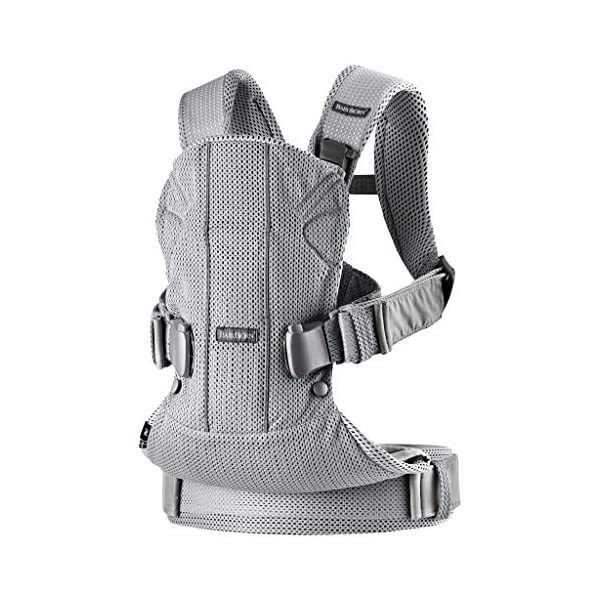 BABYBJÖRN Baby Carrier One Air, 3D Mesh, Silver, 2018 Edition Baby Bjorn The latest version (2018) with soft and breathable mesh that dries quickly Ergonomic baby carrier with excellent support 4 carrying positions: facing in (two height positions), facing out or on your back 2