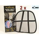Conjunto de 2 soporte lumbar espalda Protector para silla + COCHE, ergonómico de MR, de guerreros