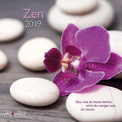 Zen 2019 - Meditationskalender, Entspannungs Kalender, Inspiration, Wandkalender - 30 x 30 cm