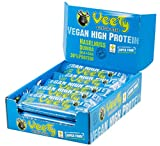 Veety - Vegan High Protein Bar 30% Haselnuss - Veganer Protein Riegel - Superfood (Goji, Quinoa, Chia) Reis Erbse Hanf Protein Vegan Natural Raw Roh Made in Bavaria, 15 x 48g (Haselnuss)