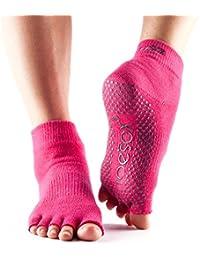Calcetines ToeSox con media puntera en el tobillo para calcetines de yoga, pilates y barre