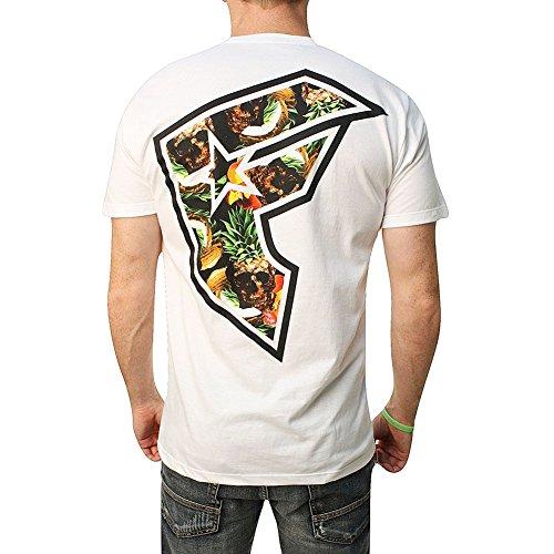 Famous Stars and Straps Men's Pineapple Skull BOH SS T Shirt White S (Skull White Star)