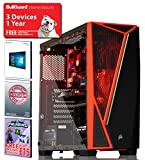 ADMI Ultra-R1 Gaming Computer: AMD FX-8300 8 Core 4.20GHz CPU, GTX 1050 2GB HDMI Graphics Card, 8GB 1600MHz RAM, 1TB Hard Drive, WiFi, Corsair SPEC-04 Glass Red LED PC Case, Windows 10