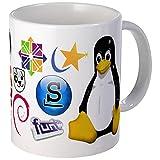 CafePress-Tasse Tazza Linux Tux molti Distro-Esclusivo, da Caffè Tazza di Caffè, Tè Tazza, White, small