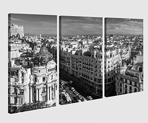 Foto Lienzo 3 Piezas Gran vía Street Madrid España