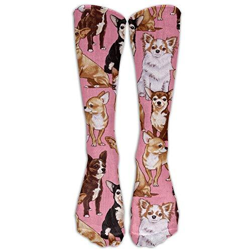 Meius Chiwawas Dog Sportstrümpfe, für Damen, Herren, klassisch, kniehoch, lang, Einheitsgröße