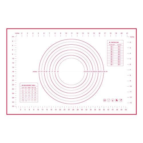 Philonext Alfombra de Silicona Antiadherente para Hornear,láminas de