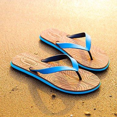 pantofole Infradito da uomo Pantofole & amp;Infradito Estate Comfort PVC casuale Blu Tallone piano sandali US8.5-9 / EU41 / UK7.5-8 / CN42