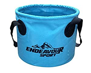 11L Collapsible Bucket Basin with 2 Handles– Perfect for camping when space is a premium. This Durable and lightweight bowl can be filled with warm or cold water and retains its shape, standing upright when full or empty.