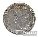 Deutsches Reich Jägernr: 366 1938 A sehr schön Silber sehr schön 1938 2 Reichsmark Hindenburg (Münzen für Sammler)
