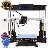 3D Drucker A8 Prusa I3 DIY Desktop 3D Drucker , Hochpräzises und schnelles Drucken von 3D-Modellen (120mm/s), Printer with 1.75mm ABS/PLA (A8 3D-Drucker)-Colorfish