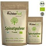 Spinatpulver BIO (250g)   Rohkostqualität   Ideal für einen Smoothie oder zum färben für Nudeln   Spinat Pulver vom Achterhof