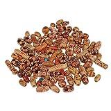 Sharplace 200 Stück Gemischte Holzperlen Zum Fädeln Holz Perlen Perle Beads Schmuck Basteln