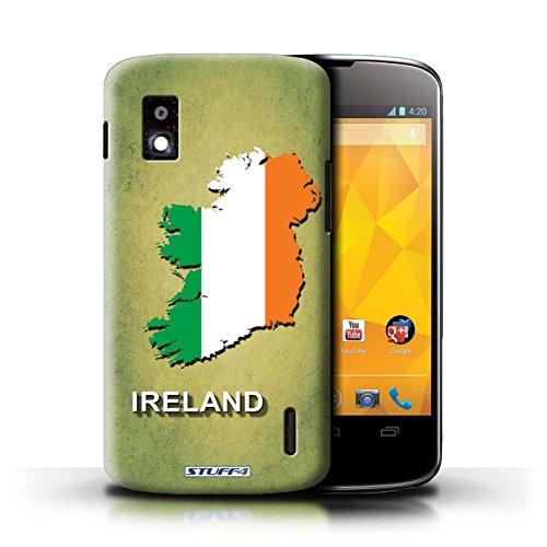 Kobalt® Imprimé Etui / Coque pour LG Nexus 4/E960 / Suisse/Swiss conception / Série Drapeau Pays Irlande/irlandaise