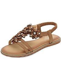 SHANGXIAN Sommer Sandalen Flachen Strand Schuh Flip Flops Damen Mode Slipper , apricot , 35