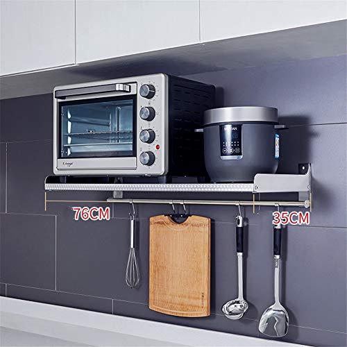 QINAIDI Estante microondas Horno Cocina montado Pared