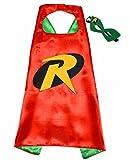 Robin Batman super héros Costumes pour enfants - Cape et masque - JOUETS POUR garçons et filles - Costume pour enfants de 3 à 10 ans - pour, Carnaval ou la devise de fêtes. - King Mungo - KMSC007