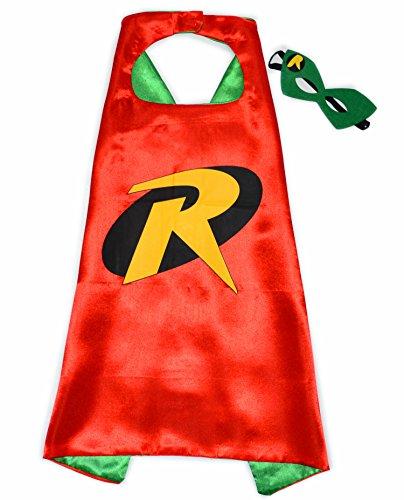 Robin Batman Superhelden-Kostüme für Kinder-Cape und Maske-Spielsachen für Jungen und Mädchen-Kostüm für Kinder von 3 bis 10 Jahre-für Karneval, Fasching oder Motto-Partys-King (Kostüme Und Robin Für Batman Mädchen)