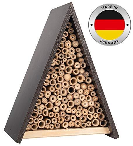 Gardigo Bienenhaus I Nisthilfe für Bienen aus Holz, zum aufhängen I Bienenhotel, Insektenhotel aus Naturmaterialien