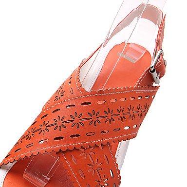 LvYuan Da donna-Sandali-Formale Casual-Altro-Zeppa-PU (Poliuretano)-Blu Giallo Rosa Arancione Orange