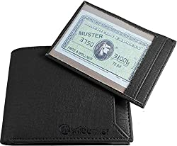 Wildantler Men Black Artificial Leather Wallet (7 Card Slots)