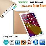 Omiky® 10,1 Zoll Quad-Core 1G + 16G Android 6.0 Dual-SIM-Dual-Kamera-Telefonauflage WiFi Phablet Tablet PC (Gold)