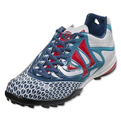 Skreamer Combat TF Football Trainers White/Dark Navy/Fiery Red - size 7.5
