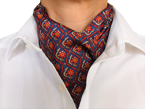 Herrenschal Seidentuch Krawatte Schal zum Binden Herrentuch 100% reine Seide Alternative zur Krawatte (Herren Schal Krawatte Seide)