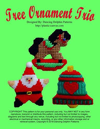 Tree Ornament Trio: Plastic Canvas Pattern (English Edition) -