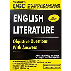 Vishal's Ugc Net English Literature book for Objective Questions With Answers for Paper 2 and 3