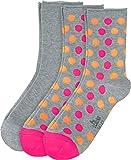S. Oliver Socken 3er-Pack Baumwolle grau/grau-pink-orange Größe 39-42