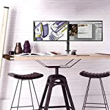 Image of Suptek Fully Adjustable Dual Arm Lcd Led Monitor Desk Mount Stand Bracket For 13 27 Screens With ±15° Tilt 360° Rotation 180° Pull Out Swivel Arm Max Vesa 100x100 Md6442