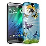 Flüstern der Schmetterlinge 10008, Butterfly, Das Kristallklare Ultradünn Gel Crystal Silikon Handyhülle Schutzhülle Handyschale mit Farbig Design für HTC One M8