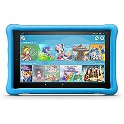 Das neue Fire HD 10 Kids Edition-Tablet, 25,65 cm (10,1 Zoll) 1080p Full HD-Display, 32 GB, blaue kindgerechte Hülle Fire HD