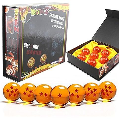 DragonBall Z -Juguete dragonball z Set de 7 bolas de cristal de Dragon Ball Z en estuche de regalo