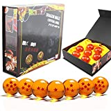 DragonBall Z Crystal Ball Replica 43mm Diamètre Anime Dragonball Ensemble de 7cs avec boîte-cadeau