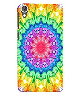 Citydreamz Traditional/Rangoli Design/Abstract Pattern/Floral Print Hard Polycarbonate Designer Back Case Cover For HTC Desire 820/820S/820Q/820G Plus