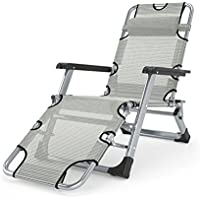 ZHIRONG Folding Lounge Chair Sun Loungers/Portable Outdoor Chair/Summer Beach Chair/Balcony Chair/Garden Loungers Office Lunch Chair/Removable Mat (Color : A)
