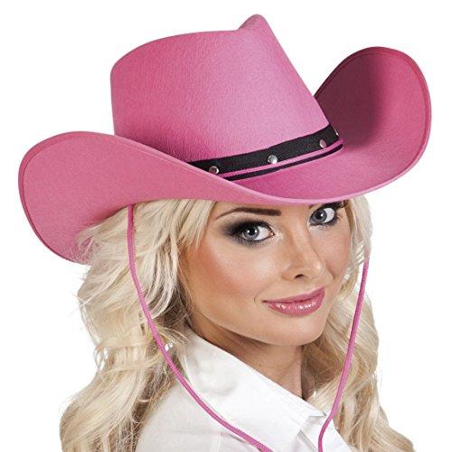 erdbeerloft - Western Hut Kostüm Kappe Cowboy, Pink