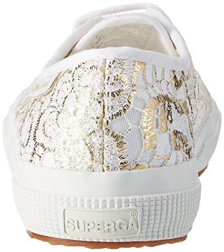 Superga Unisex-Erwachsene 2750 Macramew Sneaker, Schwarz/Silberfarben Weiß (white gold)