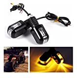 #10: Benjoy Motorcycle Turn Signals Lights Universal 6 LED Waterproof Turn Signal Indicator 12V Pilot Lamp Indicator Amber Light (Set of 2 ) For Royal Enfield Classic 350 Gunmetal Grey.