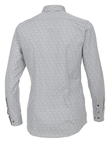 Venti Herren Businesshemd 172667700 Easy Care 100% Baumwolle - Body Fit Anthrazit
