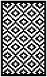 Green Decore 90 x 150 cm Wendbarer Öko-Teppich aus recyceltem Kunststoff (Plastik) für Innen und Außen/Federleicht, Schwarz/Weiß